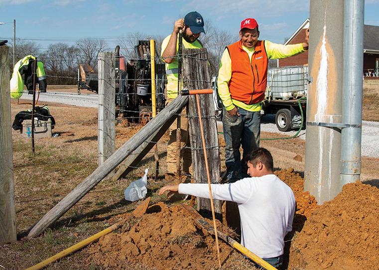 FlashFiber employees working on Fiber line